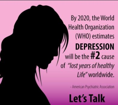 Depression is the Leading Cause of Disability Worldwide, says the World Health Organization