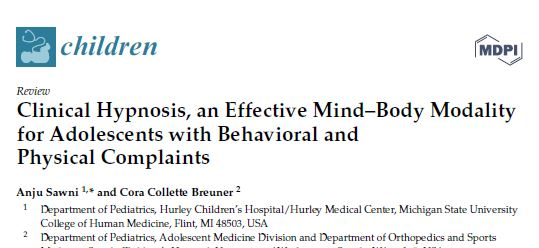 Review: Clinical Hypnosis, an Effective Mind–Body Modality for Adolescents with Behavioral and Physical Complaints
