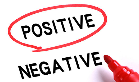 Choosing Positive instead of Negative with red marker.