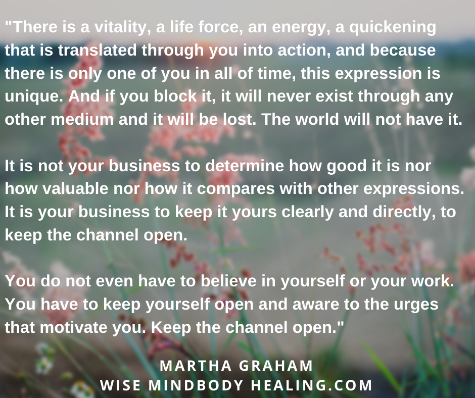 Your Expression is Unique – A Quote by Martha Graham