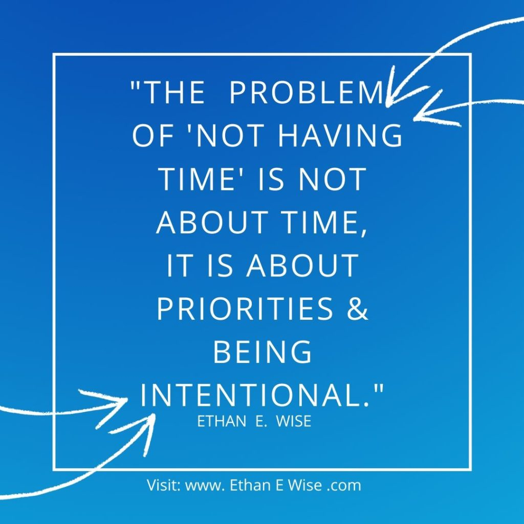 The Problem Of Not Having Enough Time
